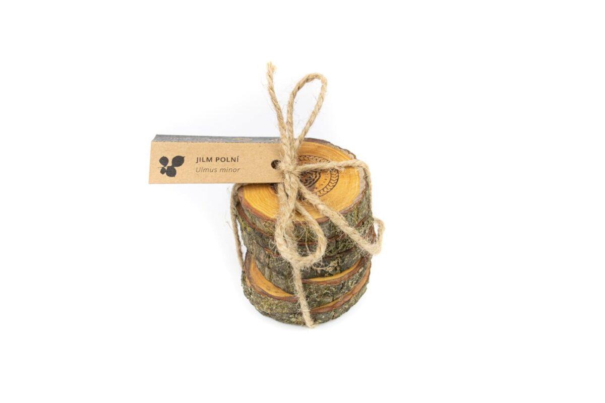 Podtácek Dřevo voní XS Jilm 5+1 ks (5-8 cm)